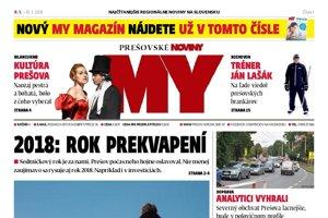 Titulná strana týždenníka MY Prešovské noviny 1/2018.