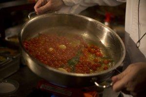 Špeciálne jedlo uvarené z cherry paradajok.