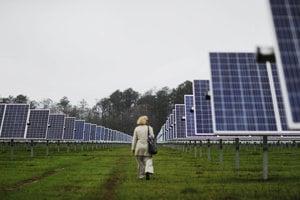 Solárna elektráreň. Ilustračné foto.