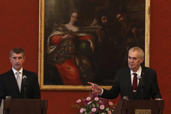 Prezident Zeman večeral s Andrejom Babišom.