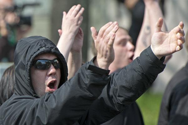 Pravicoví extrémisti. Ilustračné foto
