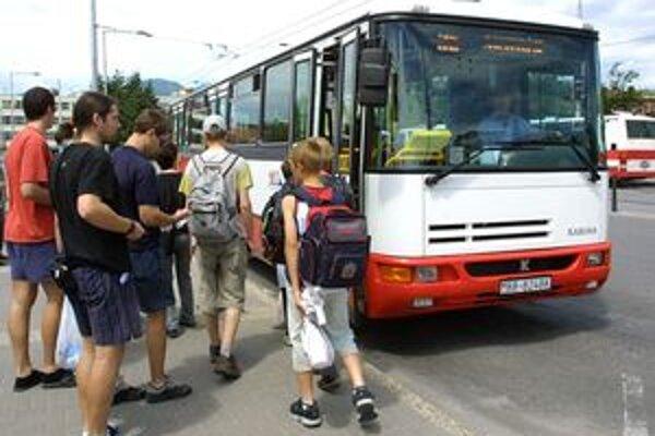 Mestská hromadná doprava v Banskej Bystrici.