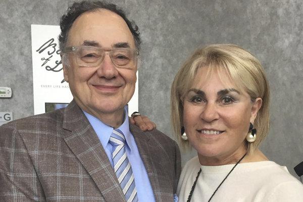 Barry Sherman s manželkou.