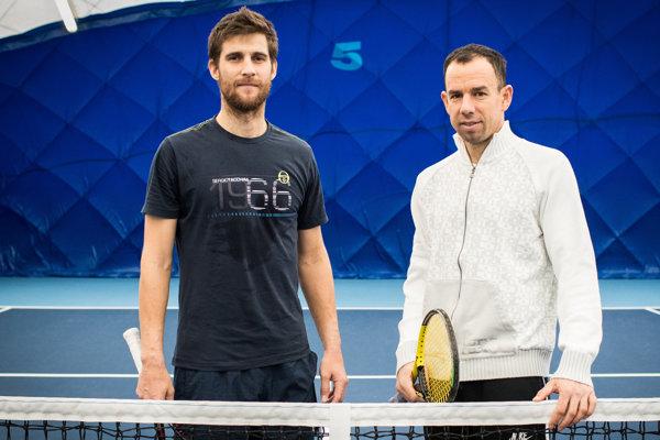 Martin Kližan a jeho tréner Dominik Hrbatý.