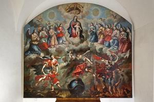 Najväčší barokový obraz na Slovensku má takmer 30 štvorcových metrov.