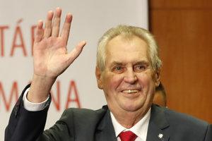 Český prezident Miloš Zeman po víťazstve vo voľbách.