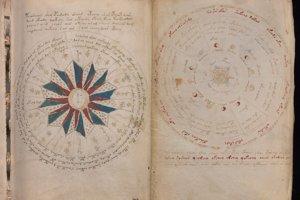 Astrologické ilustrácie vo Voynichovom rukopise.