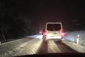 Večer sa po nehode upchal horský priechod Petič.
