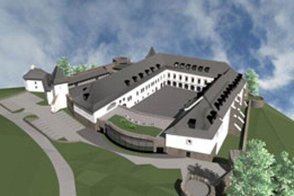 Pohľad na budúcu podobu zámku.
