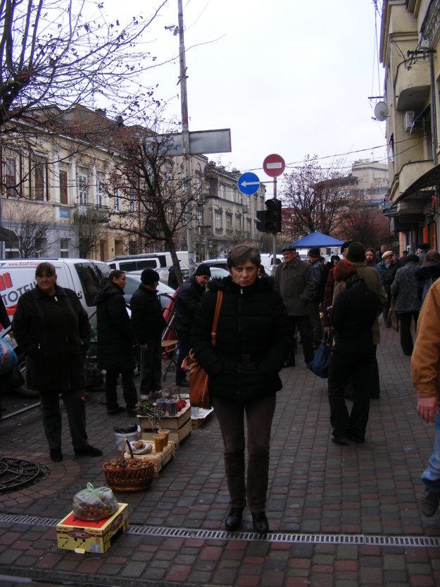 Miestny trh v Užhorode.