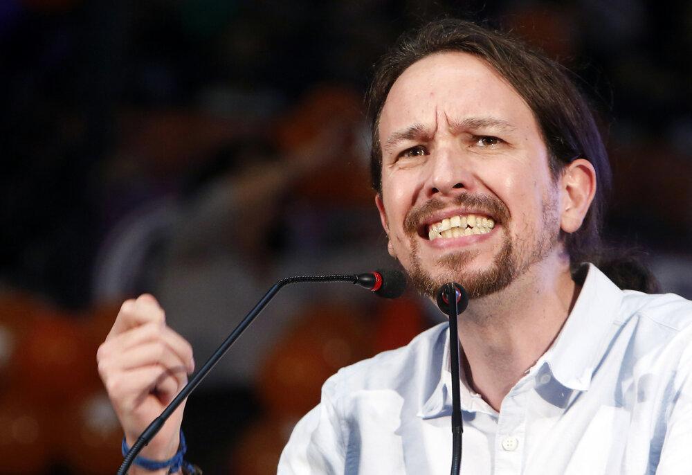 Pablo Iglesias, líder antisystémových Podemos.