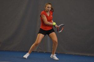 Nina Stankovská na turnaji Empire Women´s Indoor 2018.