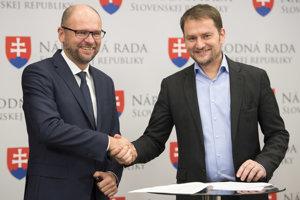 Richard Sulík (SaS) a Igor Matovič (OĽaNO-NOVA).