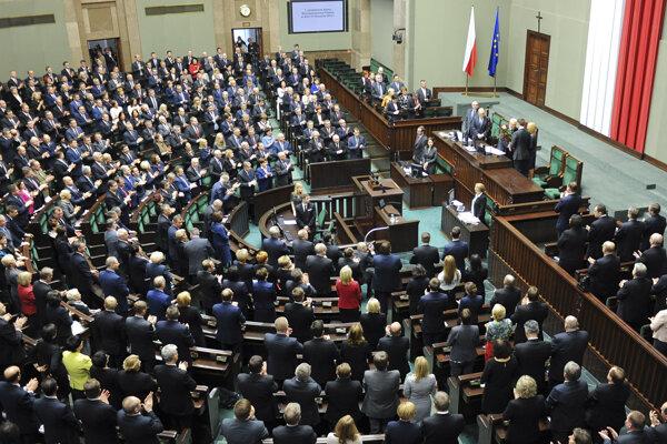 Zasadnutie poľského parlamentu.