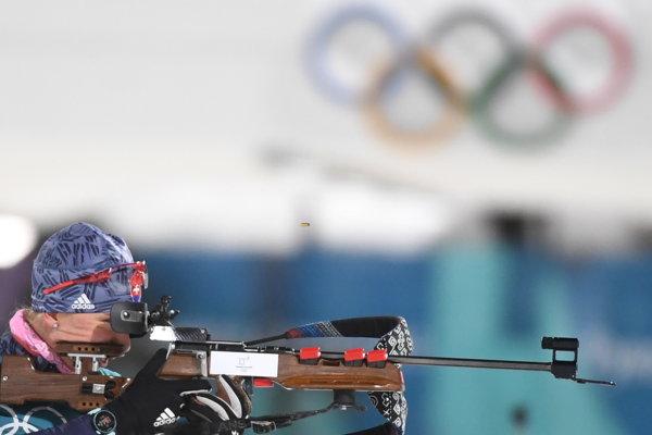 Anastasii Kuzminovej nevyšla streľba, urobila tri chyby.