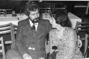 S manželkou Máriou v 70-tych rokoch.