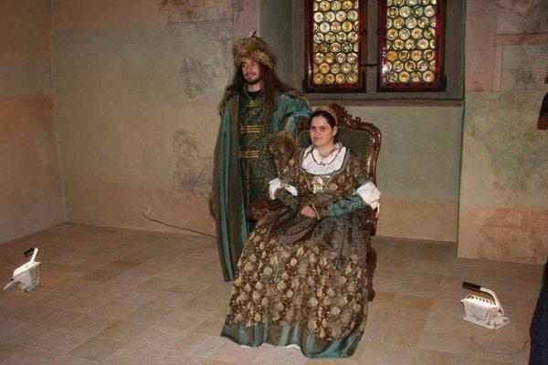 Beatrix Aragónska a Matej Korvín.