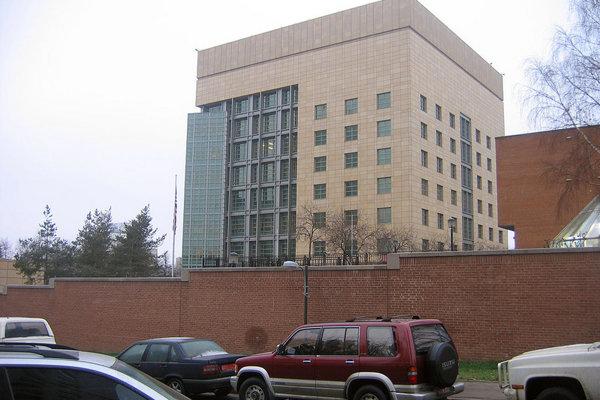 Americká ambasáda v Moskve.
