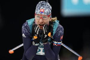 Anastasia Kuzminová v Pjongčangu.