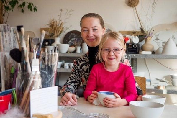 K. Sisková s dcérou.