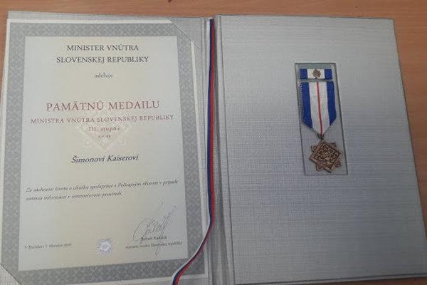 Ocenenie od ministra.