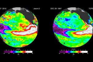 Snímky zo satelitov NASA ukazujú decembrové teploty dnes a v roku 1997.