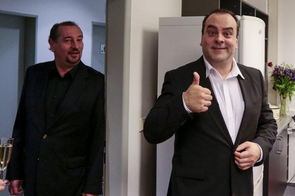 Po premiére radošíncov, hry Zmiešaná štvorhra, s bratom, operným spevákom Martinom Malachovským.