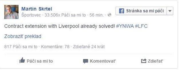 Facebook Martina Škrtela.