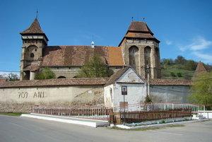 Kostol Valea Viilor v rumunskom Sedmohradsku.