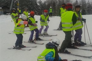 Zábery z lyžovačky.