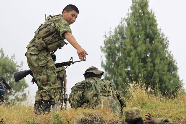 Príslušníci Revolučných ozbrojených síl Kolumbie (FARC).