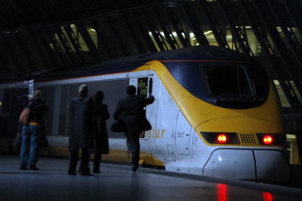 Vlak spoločnosti Eurostar.