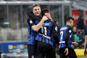 Milan Škriniar strelil prvý gól Interu v zápase.
