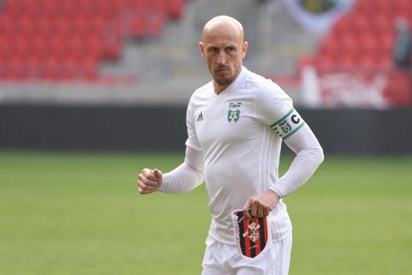 Marek Janečka v prípravnom zápase proti FC Spartak Trnava.