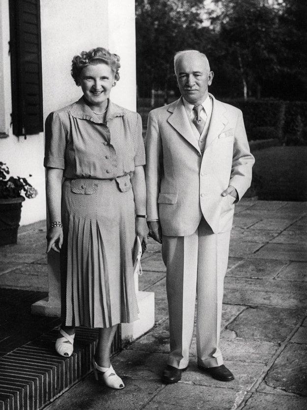 Hana Benešová a Edvard Beneš