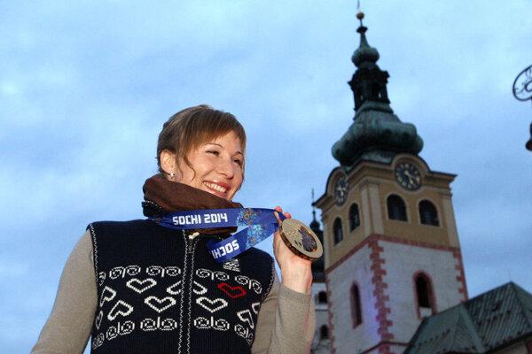 Nasťa pri privítaní z olympiády v Soči pred štyrmi rokmi. Vytvoríme takú skvelú atmosféru aj teraz?