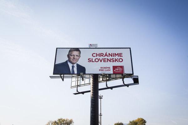 Hlavným heslom kampane Smeru je ochrana Slovenska v súvislosti s utečeneckou krízou.