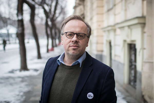 Európa musí zostať centrom slobody tlače, hovoril na pochode za Jána Kuciaka a Martinu Kušnírovú šéf organizácie Reportéri bez hraníc Christoph Deloire.