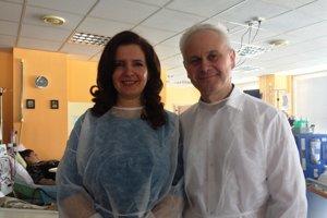 Zuzana aJozef Figlárovci. Absolvovali prvú a jedinú roboticky navigovanú transplantáciu obličiek.