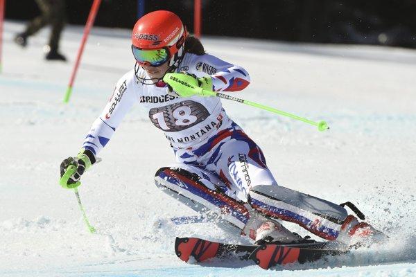 Pera Vlhová v druhom kole alpskej kombinácie.