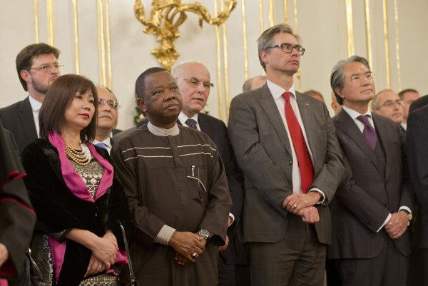 Kiska prijal vedúcich diplomatických misií akreditovaných pre Slovenskú republiku.
