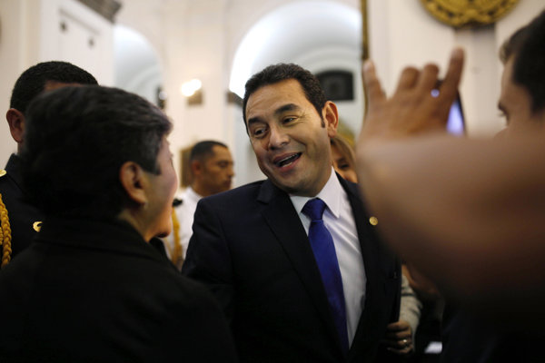 Guatemalský prezident Jimmy Morales.