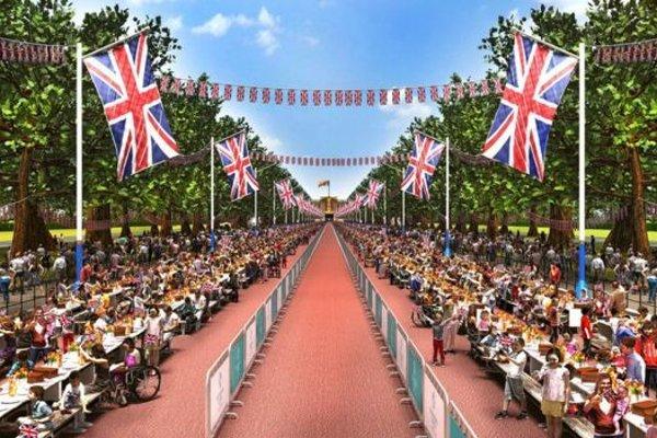 Oslava sa bude konať na londýnskej ulici The Mall.