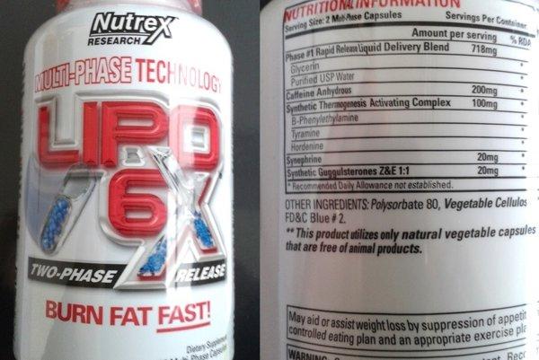 Výživový doplnok LIPO-6X, kapsuly mäkké z USA, obsahuje nepovolenú látku fenyletylamín (Beta-phenylethylamine).