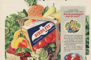 Značka mrazeného jedla Birds Eye v Spojených štátoch funguje dodnes.
