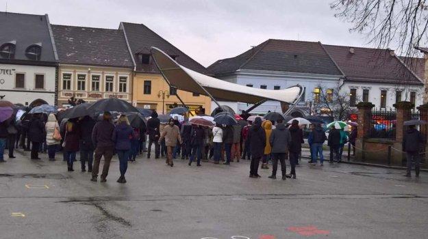 Protest v Rožňave.