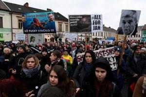 Protest v Trenčíne.