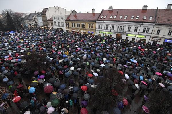 Protest v Košiciach.