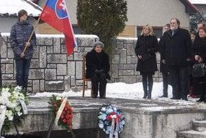 Pietnej spomienky sa zúčastnila aj posledná žijúca účastníčka Krvavej Nedele, Anna Nováková.