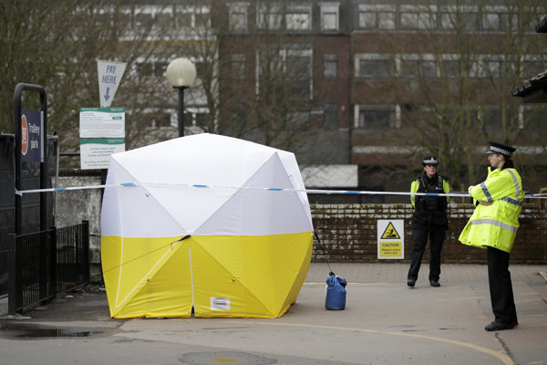 Okolie útoku na Skripaľa pred obchodným centrom v anglickom Salisbury.